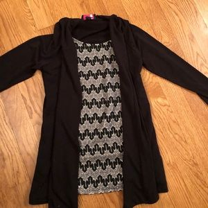 Girls top with built in cardigan